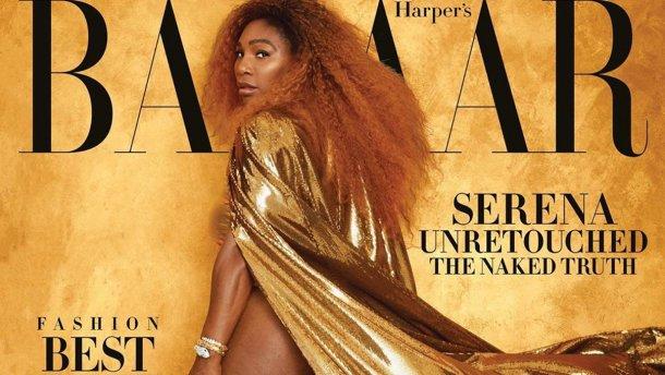 Серена Уильямс засветила накачанные ягодицы на обложке журнала Harpers Bazaar: пикантное фото